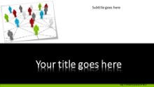 Conceptual teamwork Widescreen PPT PowerPoint Template Background