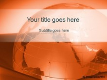 Download corporate globe orange PowerPoint Template and other software plugins for Microsoft PowerPoint