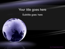 Download dark purple globe PowerPoint Template and other software plugins for Microsoft PowerPoint