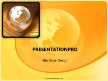 Download globe gold wave PowerPoint Template and other software plugins for Microsoft PowerPoint