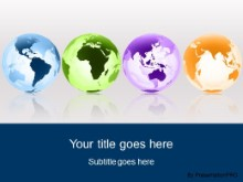 Download globes around the world blue PowerPoint Template and other software plugins for Microsoft PowerPoint