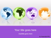 Download globes around the world purple PowerPoint Template and other software plugins for Microsoft PowerPoint