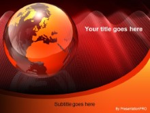 Download red globe meshy PowerPoint Template and other software plugins for Microsoft PowerPoint