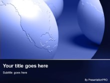 Download three blue globes PowerPoint Template and other software plugins for Microsoft PowerPoint