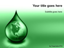 Download waterdrop globe green PowerPoint Template and other software plugins for Microsoft PowerPoint