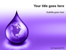 Download waterdrop globe purple PowerPoint Template and other software plugins for Microsoft PowerPoint