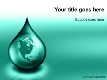 Download waterdrop globe teal PowerPoint Template and other software plugins for Microsoft PowerPoint