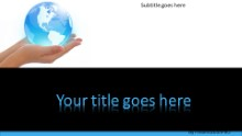 World In Hand Widescreen PPT PowerPoint Template Background