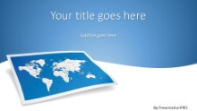 World Map 2 Widescreen PPT PowerPoint Template Background