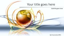 Global Swirls A Widescreen PPT PowerPoint Template Background