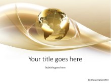 Global Swirls Gold PPT PowerPoint Template Background