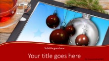 2014 Tablet Holiday Widescreen PPT PowerPoint Template Background