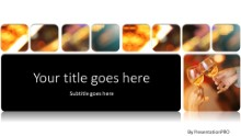 A Toast Widescreen PPT PowerPoint Template Background