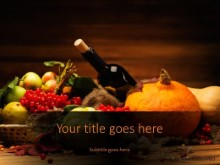 Autumn Decoration PPT PowerPoint Template Background