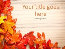 Autumn Foliage PPT PowerPoint Template Background