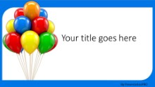 Balloon Party Widescreen PPT PowerPoint Template Background