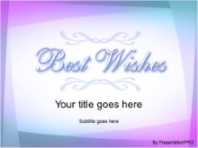 Download best wishes2 PowerPoint Template and other software plugins for Microsoft PowerPoint