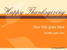 happy thanksgiving powerpoint template background in holiday and