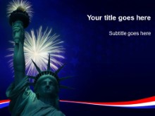 Download liberty fireworks PowerPoint Template and other software plugins for Microsoft PowerPoint