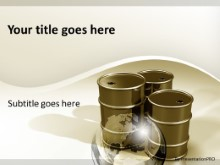 Crude Oil Barrels Gold PPT PowerPoint Template Background
