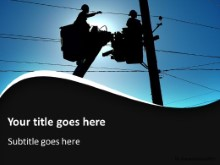 Working Linemen PPT PowerPoint Template Background