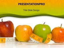 Download apples tape measure PowerPoint Template and other software plugins for Microsoft PowerPoint