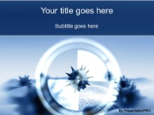 Download microbe zoom blue PowerPoint Template and other software plugins for Microsoft PowerPoint