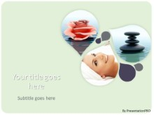 Relaxing Spa PPT PowerPoint Template Background