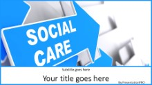 Social Care Widescreen PPT PowerPoint Template Background