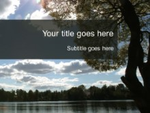 Download lake views PowerPoint Template and other software plugins for Microsoft PowerPoint