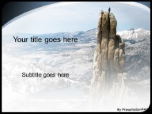 Download mountain peek PowerPoint Template and other software plugins for Microsoft PowerPoint