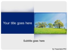 Download oak tree in spring PowerPoint Template and other software plugins for Microsoft PowerPoint