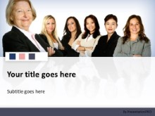 Download diverse women team PowerPoint Template and other software plugins for Microsoft PowerPoint