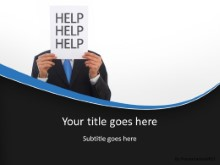 Help Help Help PPT PowerPoint Template Background