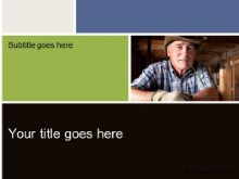 Download senior farmer PowerPoint Template and other software plugins for Microsoft PowerPoint