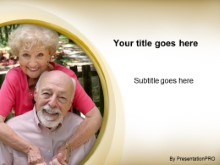 Download smiling senior couple PowerPoint Template and other software plugins for Microsoft PowerPoint