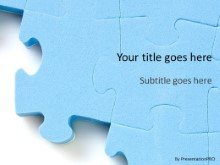 Large Puzzle 1 PPT PowerPoint Template Background