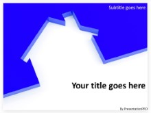 Download housing cutout blue PowerPoint Template and other software plugins for Microsoft PowerPoint