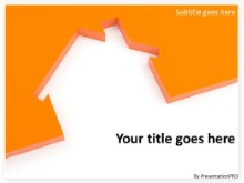 Download housing cutout orange PowerPoint Template and other software plugins for Microsoft PowerPoint