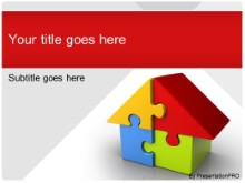 Download housing puzzle red PowerPoint Template and other software plugins for Microsoft PowerPoint