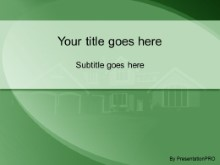 Realestate Simple Green Powerpoint Template Background In Real