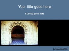 Download cathedral arches PowerPoint Template and other software plugins for Microsoft PowerPoint