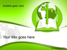 Download world religion green PowerPoint Template and other software plugins for Microsoft PowerPoint