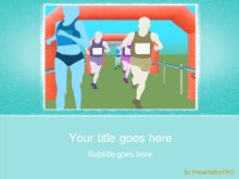 Track and Field 0873 PPT PowerPoint Template Background