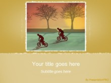 Biking 0874 PPT PowerPoint Template Background