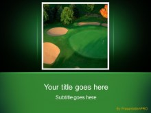 Download golf landscape PowerPoint Template and other software plugins for Microsoft PowerPoint