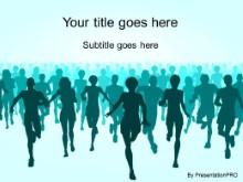 Download marathon teal PowerPoint Template and other software plugins for Microsoft PowerPoint