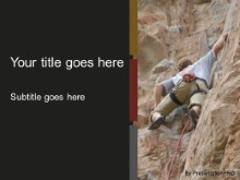 Download rock climber PowerPoint Template and other software plugins for Microsoft PowerPoint