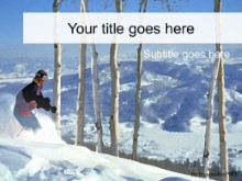 Download ski PowerPoint Template and other software plugins for Microsoft PowerPoint