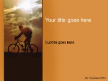 Download sunset ride PowerPoint Template and other software plugins for Microsoft PowerPoint